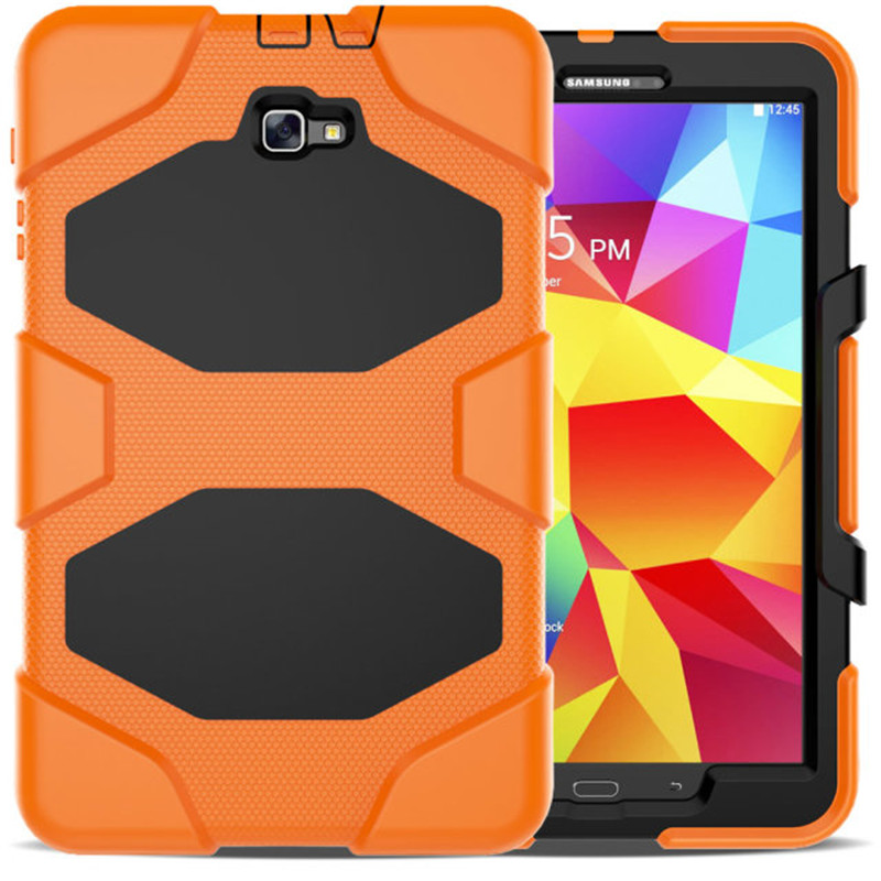 Carry 360 For Samsung Galaxy Tab A 10.1 T580 Case SM-T585 Heavy Duty Rugged Impact Hybrid Case Kickstand Cover Shockproof