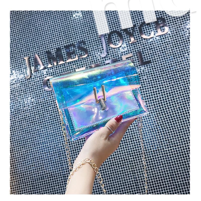 JIAOO Laser Transparent Bags Fashion Women Crossbody Bags for Women Korean Style Shoulder Bag Messenger PVC Waterproof Beach Bag 14