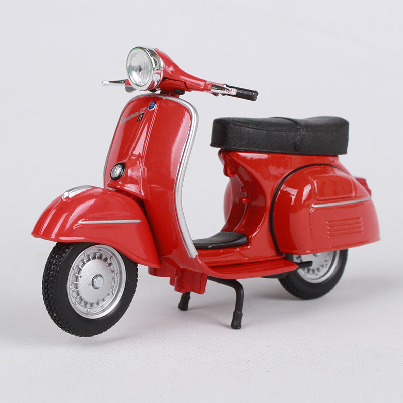 Maisto 1:18 vespa gtr 1968 빨간색 오토바이 다이 캐스트 - 장난감 차량