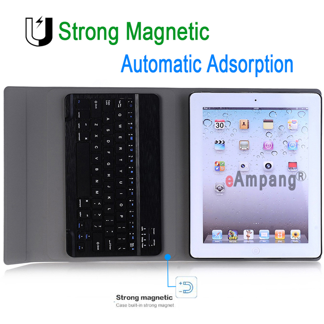 For Apple iPad 2 3 4 Keyboard case for iPad2 iPad3 iPad4 Case Bluetooth Keyboard Slim Leather Cover Funda + Screen Protector