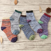Autunm new Hot man in tube cotton socks Retro national wind fashion thick lines women sock