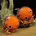 Cuero curtido vegetal hecho a mano Cartera Del Mitón de La Moneda bolsas bolso de tortuga pulpo con forma de animales de dibujos animados carpeta cero artesanía