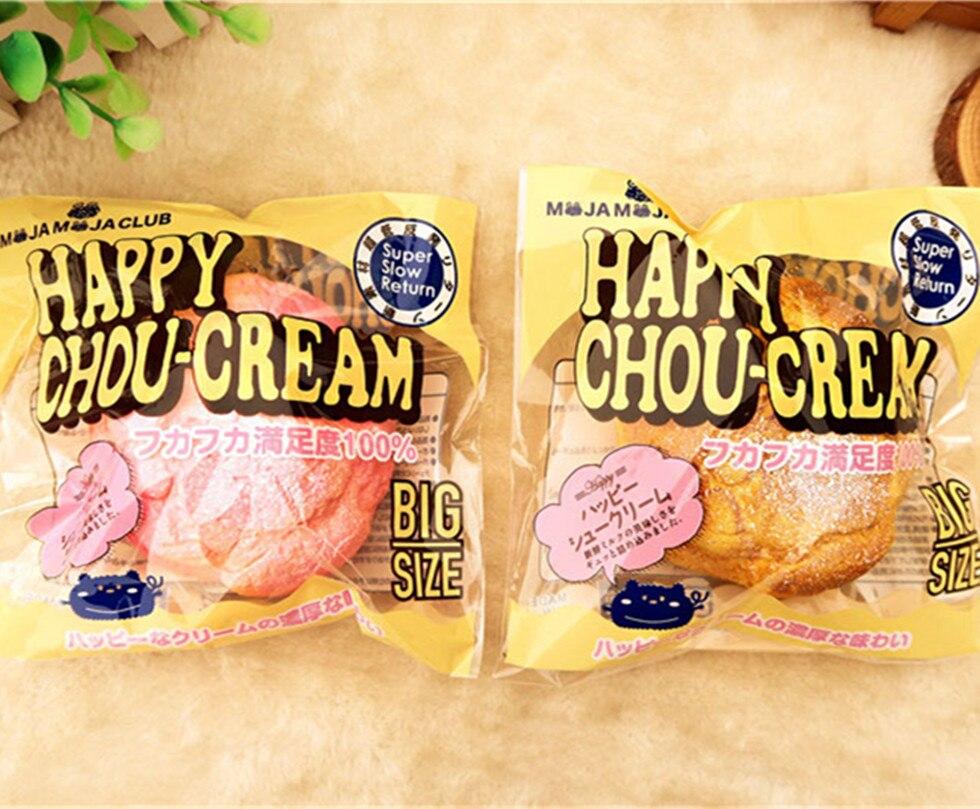 imágenes para Nueva rosado Lindo y bollo de crema de pan encanto blando/PU Muñeca Pad/Wholesale