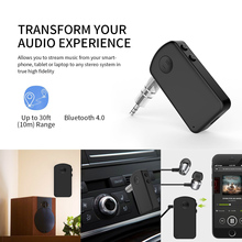 Dual Link Bluetooth 4.0 Receiver 3.5mm Aux Portable Wireless Audio Music Receiver Adapter for Home/Car support Hands-free Call