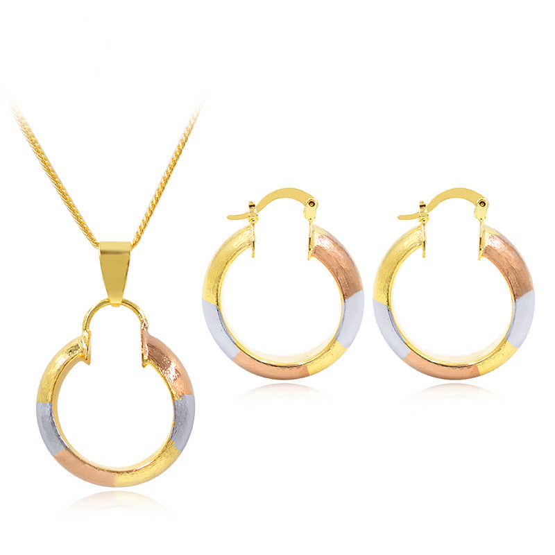 ZEADear Jewelry Fashion Jewelry For Women Hoop Earrings Pendant Necklace Dubai High Quality Circle Jewelry Set For Party Wedding