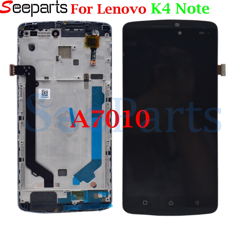 Test Working LCD For Lenovo A7010 LCD Display with frame Touch Panel Digitizer Assembly Repalcement Parts For Lenovo K4 Note LCDTest Working LCD For Lenovo A7010 LCD Display with frame Touch Panel Digitizer Assembly Repalcement Parts For Lenovo K4 Note LCD