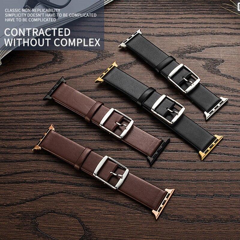 MEIKANGHUI Brand Wrist Watch Band Leather Strap for 38/42mm Apple Watch iwatch straps series 3 2 1 Loop Belt Strap Replacement все цены
