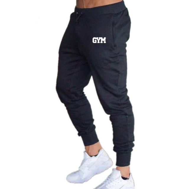 2019 GYMS New Men Joggers Brand Male Trousers Casual Pants Sweatpants Jogger grey Casual Elastic cotton Fitness Workout pan 4