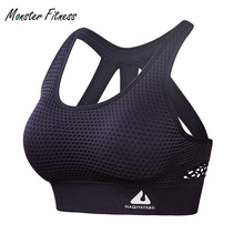 2018 Women Sports Bra High Impact for Fitness Yoga Running Pad Cropped Top Sport