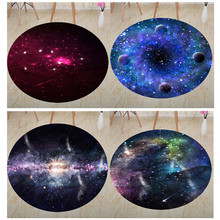 Trend Nordic style Round carpets for living room bedroom Area Rugs fashion Planet earth moon 3D printed rugs and carpet home