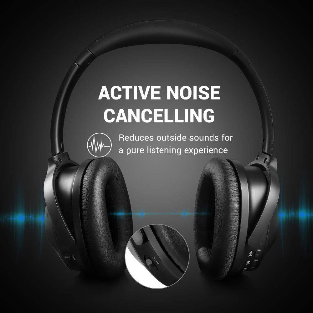 Image 2 - OneOdio Original A9 능동형 소음 차단 무선 헤드셋 (마이크 스테레오 포함) 이어폰 헤드셋 무선 헤드폰 (폰용)해드폼/헤드셋   -