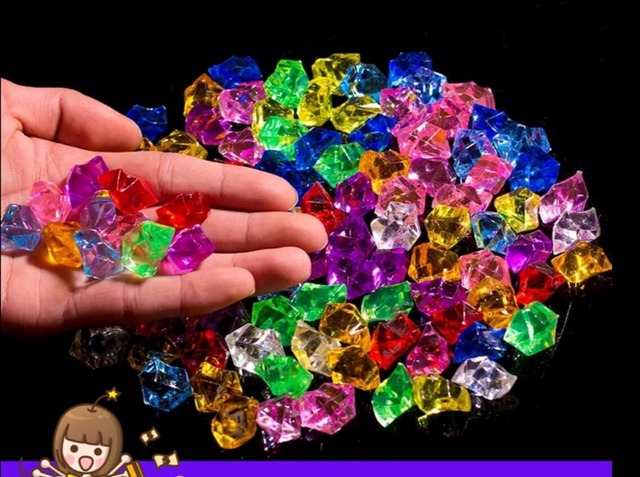 250pcs 25mm Pirate Jewels Treasure Chest Party Favors Decorations Acrylic Crystal Gems Vase Filler Confetti