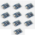 10Pcs 5V Mini USB 1A TP4056 Lithium Battery Charging Board Power Charger Module F17701-10