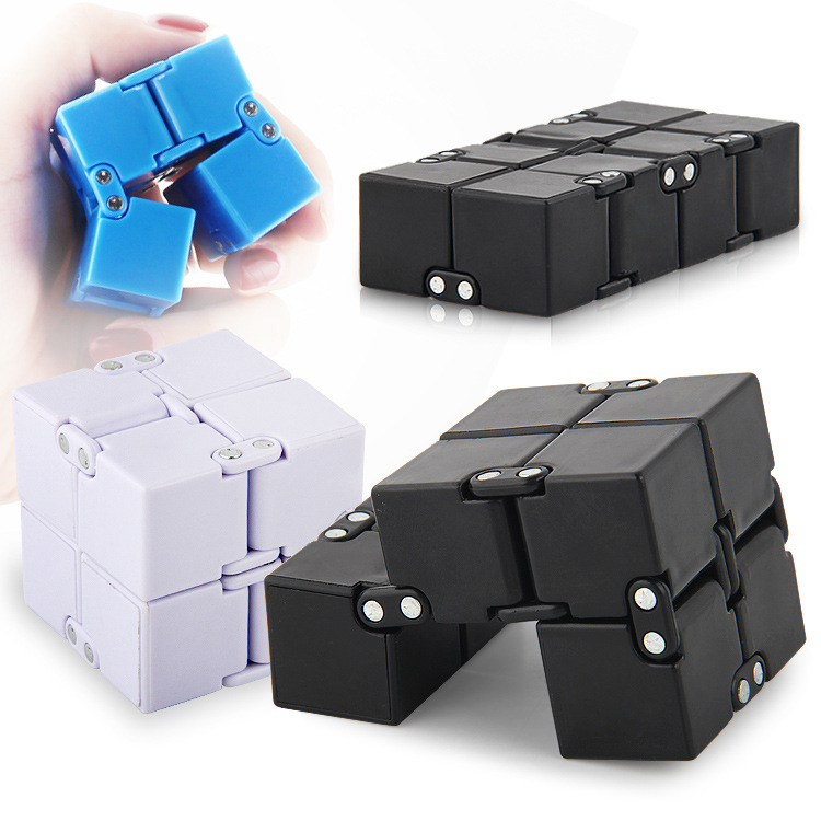 Hot Original Infinity Cube 2 Metal High Quality EDC Creative Fidget Cube Toy Anti Stress Relief Hand Spinner Adult ADHD metal stress relief spinner toy hand finger gyro