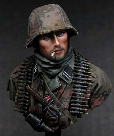 1/10 Resin Bust German Soldier Not Assembled Uncolored