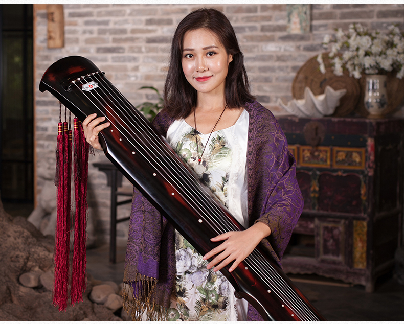cinnabar guqin fu xi Type Lyre Chinese 7 Strings Ancient Zither Chinese Musical Instruments zither 100