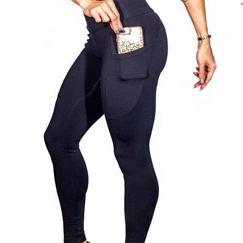 2018 Frauen Hosen Hohe Taille Elastische Fitness Sport Leggings Laufsport Sport Hosen Schnell Trocknend Training Hosen Knitterfestigkeit