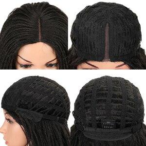 Image 5 - Magic Tóc 26 Inch Tổng Hợp Phối Ren Phía Trước Bộ Tóc Giả Cho Nữ Màu Đen Móc Dây Bện Xoắn Jumbo Oai Giả Locs Kiểu Tóc Dài tóc