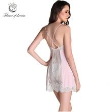 ca01ed4b49 Ropa De Dormir Sexy Silk Satin Chemise De Nuit Femme Satin Sexy Nightgowns  Sleep Wear For