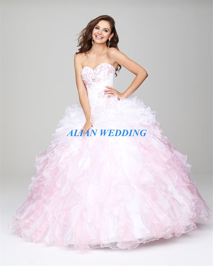 High Quality Pink and White Quinceanera Dresses-Buy Cheap Pink and ...