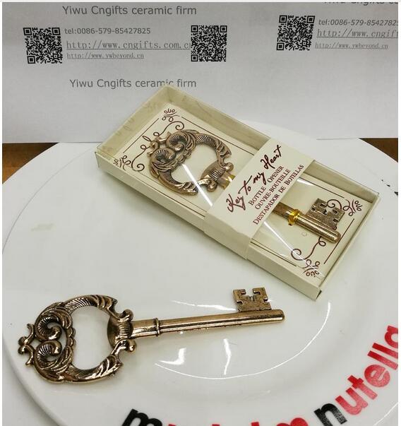Promotie bruiloft souvenir antieke gouden sleutel tot mijn hart - Feestversiering en feestartikelen - Foto 1