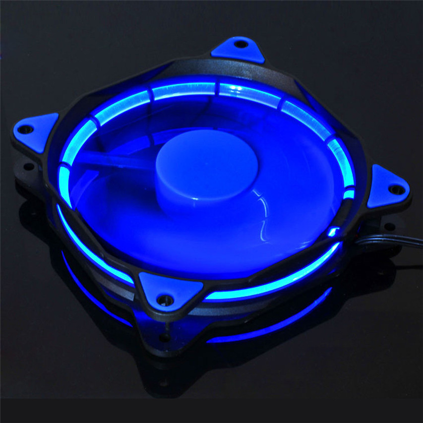 Hot Brand Binmer Quiet 120mm DC 12V3+4pin LED effects Clear Computer Case fan controller computer For Radiator Mod reliable dropshipping do csv quiet 120mm dc 12v 3 4pin led effects clear computer case fan for radiator mod