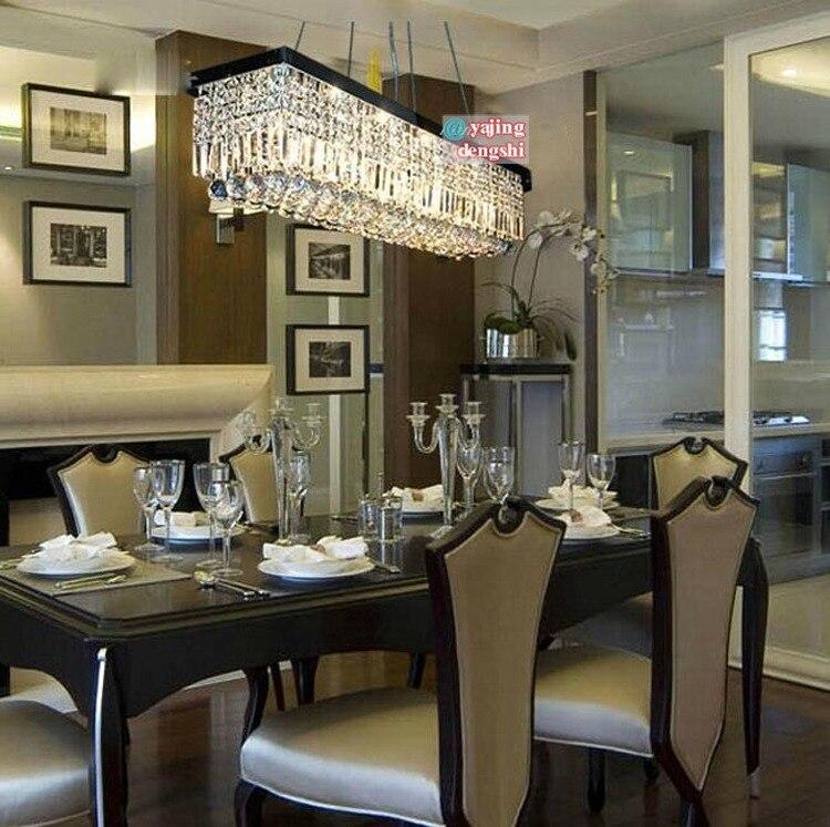 Comedores Modernos Minimalistas | Lustre De Cristal Retangular Minimalista E Moderno Restaurante Bar