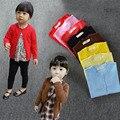 Crianças Blusas Meninas 2017 Roupas De Bebê Desgaste da Roupa Do Bebê Da Menina Camisola de Malha Outono Camisolas Do Bebê Meninas Inverno Cardigan