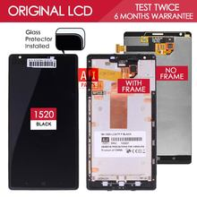 100% Tested Brand BlacK IPS LCD Display For Nokia Lumia 1520 Display with Touch Screen Digitizer Assembly with Frame