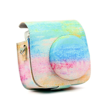 Oil Color PU Leather Instant Camera Shoulder Bag Protector Cover Case Pouch for Fujifilm Instax Mini 9 Case mini 8 8+ Camera bag original fujifilm 10 sheets instax mini stripe instant film photo paper for instax mini 8 7s 25 50s 90 9 sp 1 sp 2 camera