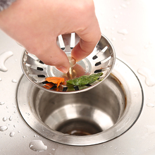 Kitchen sinks stoppers  stainless steel sink lid dishpan drainer chock plug  filter basket SJ