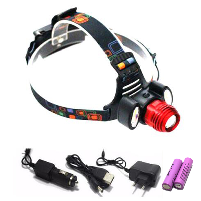 Rechargeable 9000Lm xm-T6 Led HeadLamp Rechargeable Headlight flashlight head lamp Light +2* 18650 battery +Car EU/US/AU/UK char fenix hp25r 1000 lumen headlamp rechargeable led flashlight