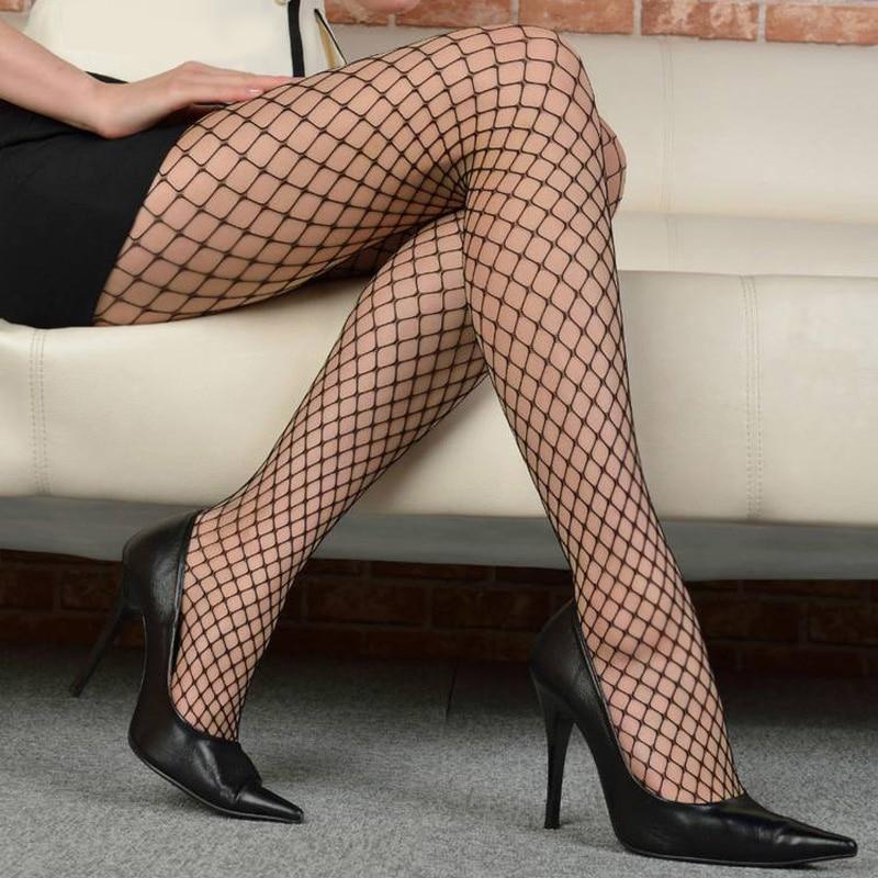 2017 Sexy Pantyhose Elastic Black Female Stockings Pantyhose Fashion Sexy Women Hot Sheer Tight Slim Net Small Mesh FishnetStock