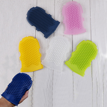 1Pcs Soft Silicone Massage Scrub Gloves For Peeling Body Bath