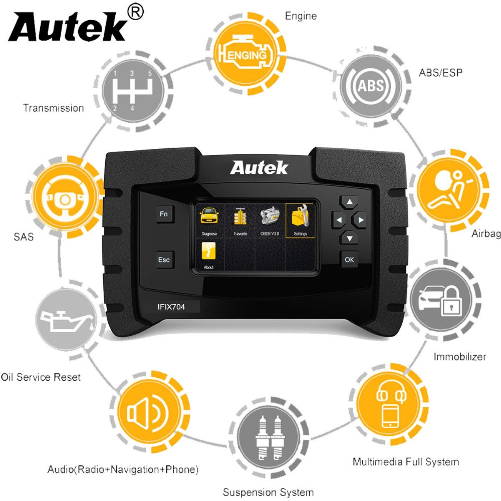 Autek IFIX704 for GM Ford Chrysler Toyota Lexus SAS,DPF Car Diagnostic All  System Automotive Scanner Engine Airbag ABS Reset
