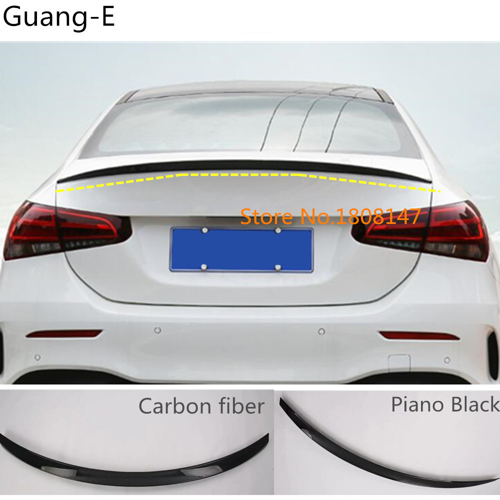 Car styling rear tail spoiler side upper triangle wing window bezel trim For Mercedes Benz A Class W177 A180 A200 A250 2019 2020