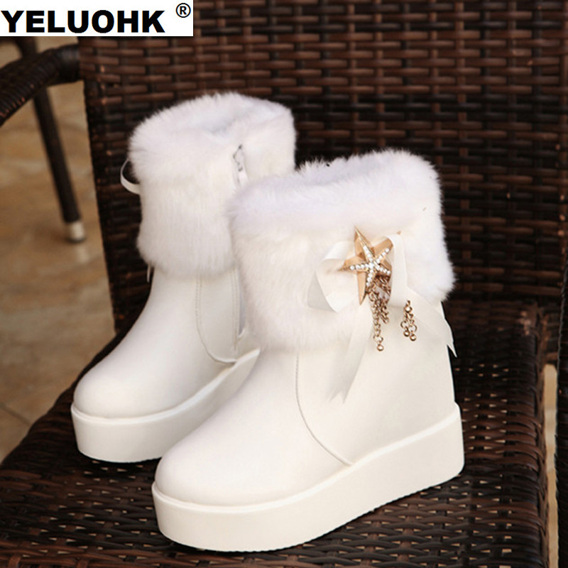 2017 New Waterproof Winter Boots Women Shoes Casual Platform Shoes Ankle Boots For Women High Boots Plush Snow Boots Women