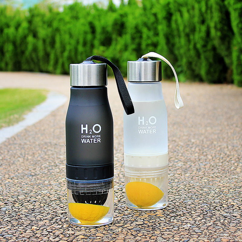 Water-Bottle Infuser Juice-Lemon Drink 650ml Plastic Outdoor Kids Gift Xmas