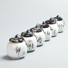 Travel Mini Ceramic Tea Canister 350ML Matte Glaze Tea Caddy Tea Ceremony Accessories Portable Porcelain Storage Jars