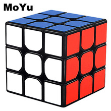 MOYU 3x3x3 Cubos Mágicos Profesionales Rápida velocidad Giratorio Cubos Magicos 3 por 3 velocidades cubo clásico juguetes para niños MF3SET