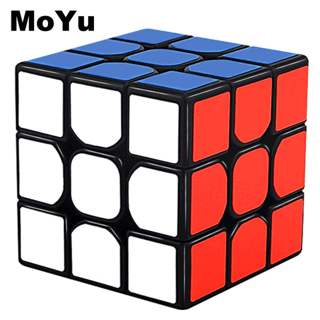 MOYU 3x3x3 Magic Cubes Professional Fast Speed Rotating Cubos Magicos 3 by 3 Speed Cube Classic Kids Toys for Children MF3SET
