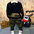 The fall of new men and women leisure sweater long johns camouflage pants two piece suit parent-child fashion