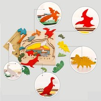 New Arrival 3D Stereo Cartoon Wood Puzzle For Kids Children Educational Wooden Baby Kids Toys