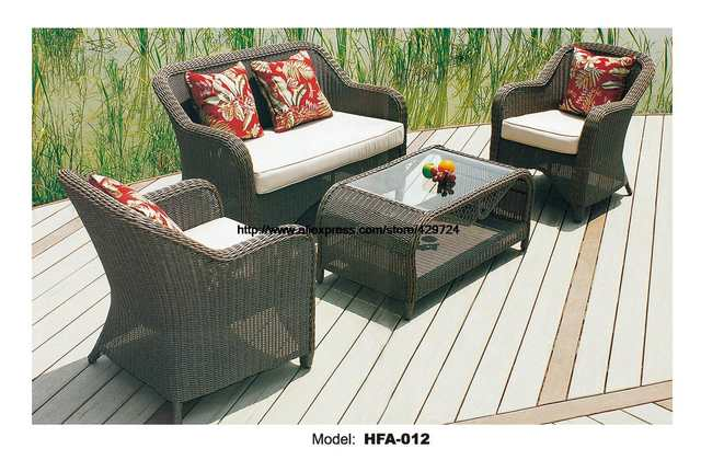 Outdoor Patio Furniture Sofa Table Ottoman Outdoor Table Rattan Sofa Set  Garden Rattan Furniture Not Hammock