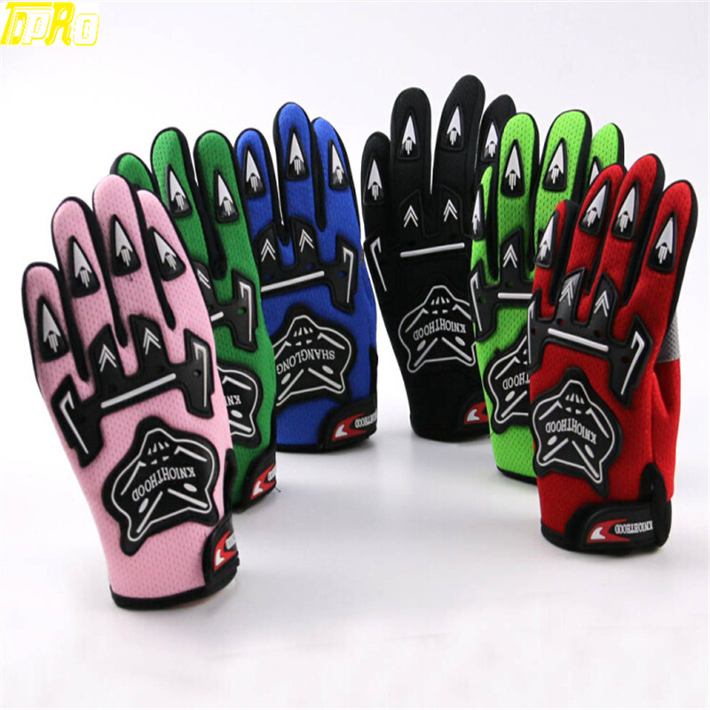 TDPRO Guantes Motorcycle Racing Gloves For Child YOUTH/PEEWEE Kids Motocross Bicycle Dirt PitBike Pocket Bike Motorbike ATV/QUAD(China)