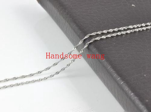 Charming 3mm BoyS Girls Unique Silver Wave Chain 316L Stainless Steel Nacklace DIY Collocation Pendant 18-40inch Free Choose
