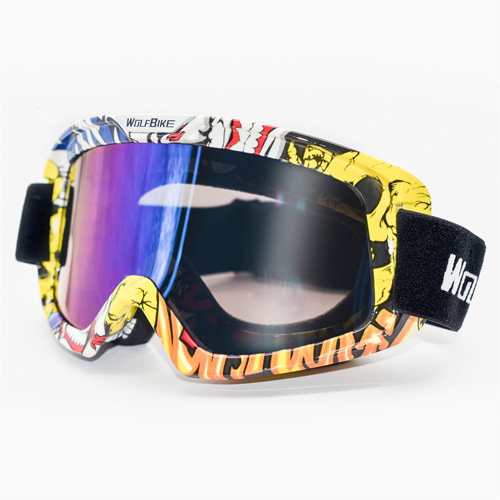 WOSAWE Windproof Motocross Goggles Adult Anti-fog UV Protection Ski Face Mask Motorcycle TPU Protection Snowboard Snow Glasses