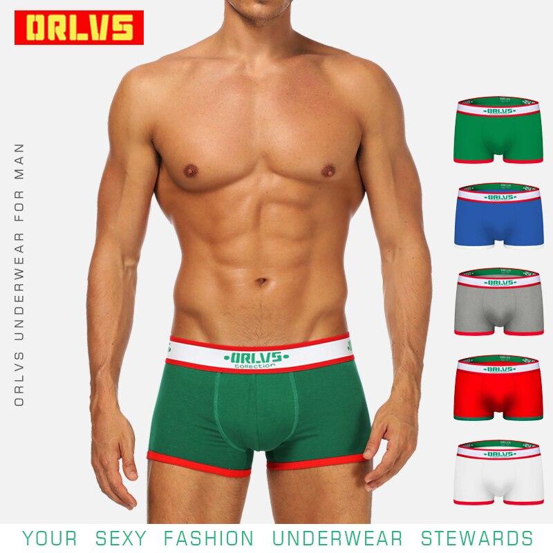 ORLVSBreathable Men Underwear Gay Boxers Quick Dry Mesh Comfortable Panties Cueca Tanga Solid Boxershorts Men Sleepwear OR172