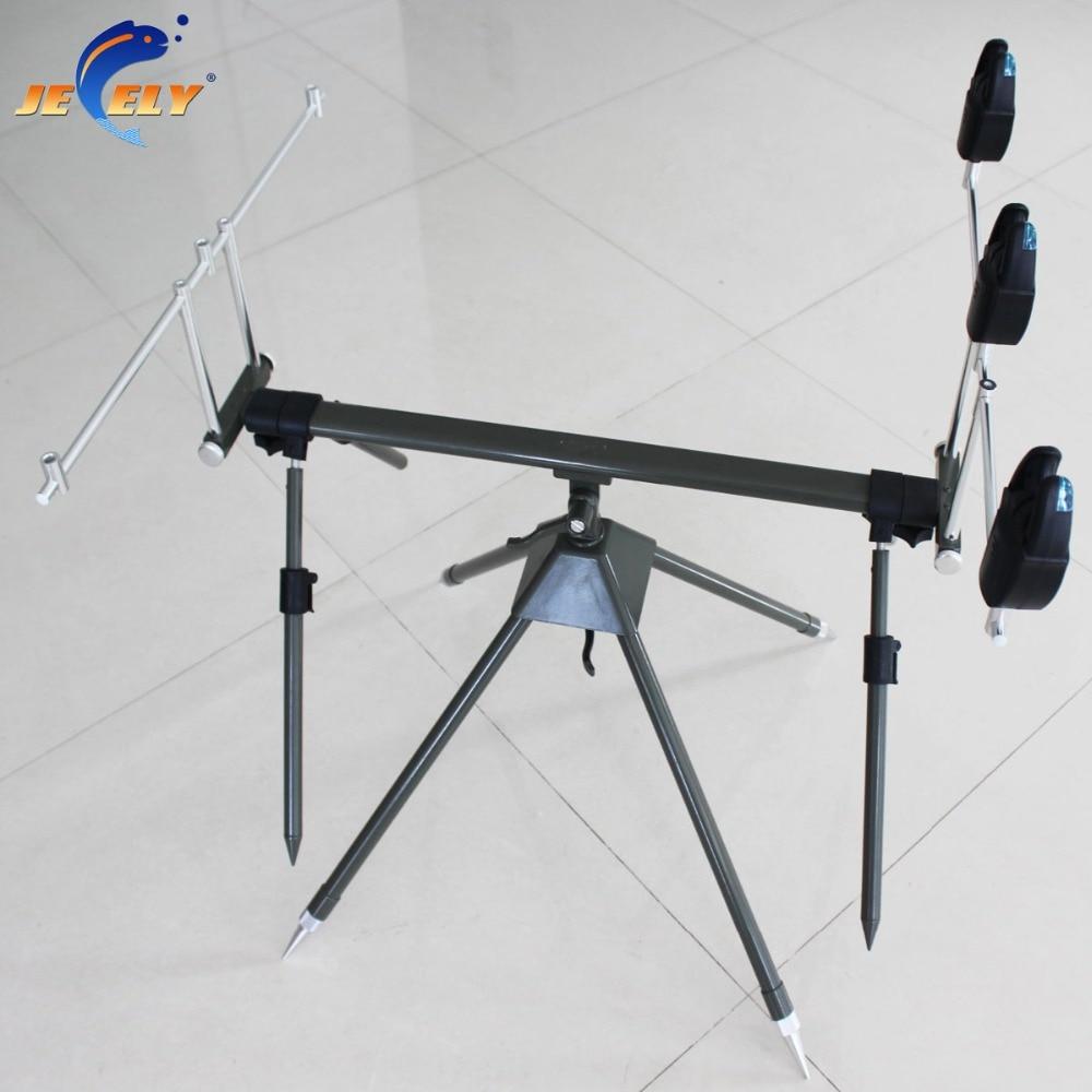 Free Shipping JY142-1-3 Adjustable 3 Rod and Bite Alarm Alumimum Carp Fishing Rod Pod