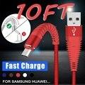 Câbles de données de Charge rapide USB câbles tressés durables à haute résistance pour iPhone Android type c Câbles pour téléphone portable     -